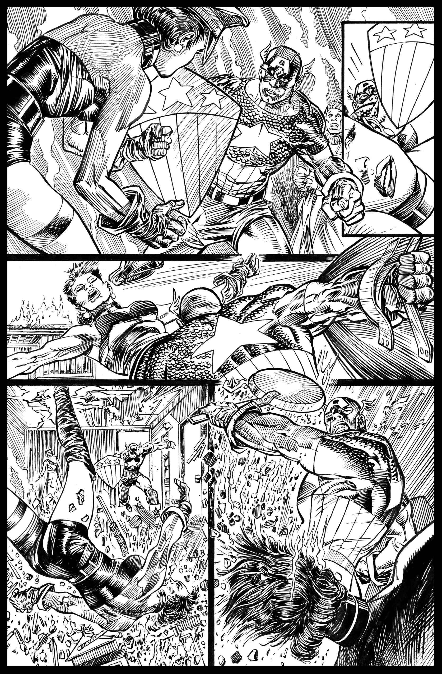Flags of Our Fathers #3 - Page 12 - Pencils & Inks