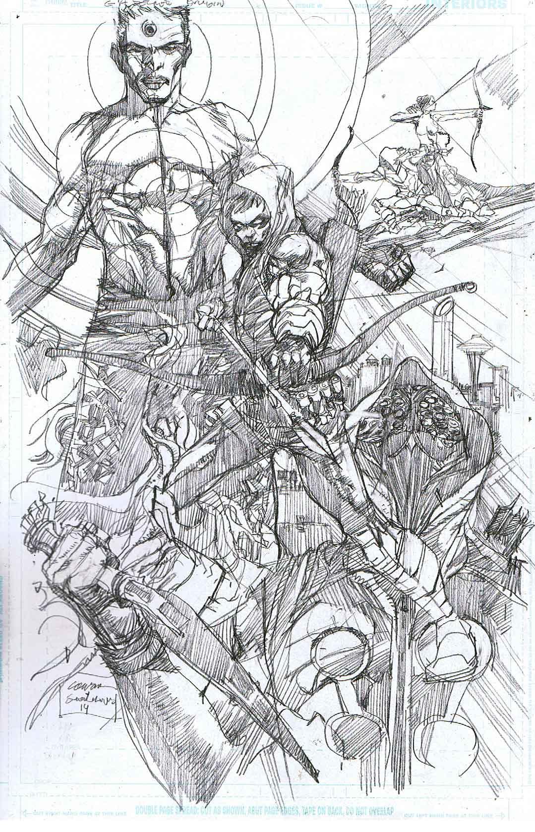 Green Arrow: Secret Origins - Page 12 - Pencils