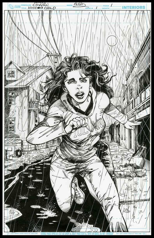 Voodoo Child #1 - Page 1 - Pencils & Inks