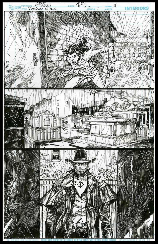 Voodoo Child #1 - Page 8 - Pencils & Inks