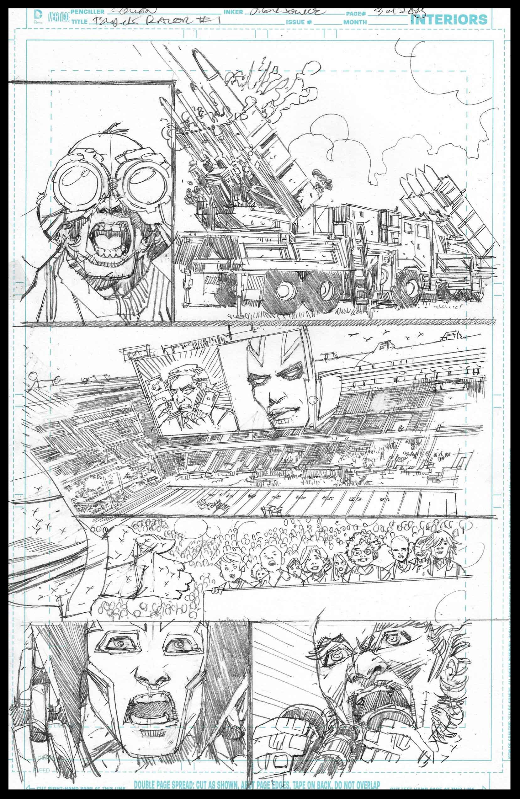 Black Racer #1 - Page 3 - Pencils