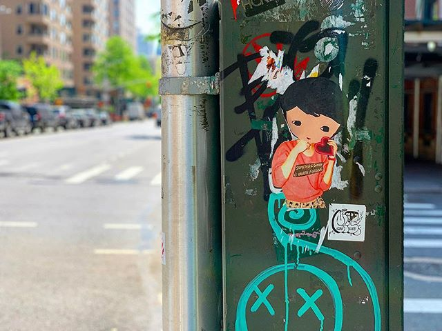 'Something good is worth finding' ........... #streetart #favoriteart #streetartnyc #stickers #wheatpaste