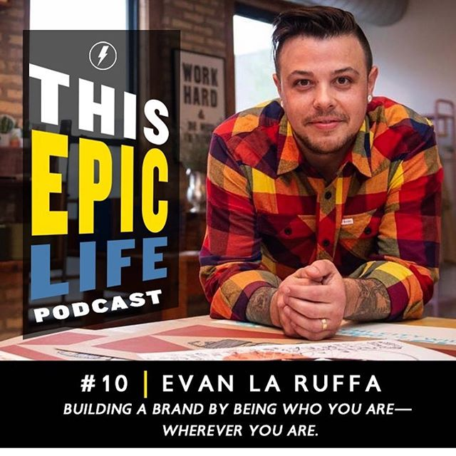 It's been awesome to become buddies with @kristoffercarter over the last 5 years and the coolest part of this conversation is that you can tell we have fun together. I chatted with him about art, business, entrepreneurship, love, fatherhood, and figuring out this whole 'life' thing. I had a blast and am grateful for the opportunity. Link in profile... be sure to check out the other episodes too, KC is creating awesome space with this podcast. #podcast #interviewpodcast #thisepiclife #ipaintmymind #getartgiveback