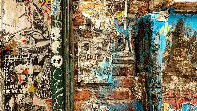 'NYC Street Gallery Textural Vignette No. 214' #texture #nycphotography #streetartnyc #sohonyc #streetart #nycstickers #streetartphotography #streetphotography