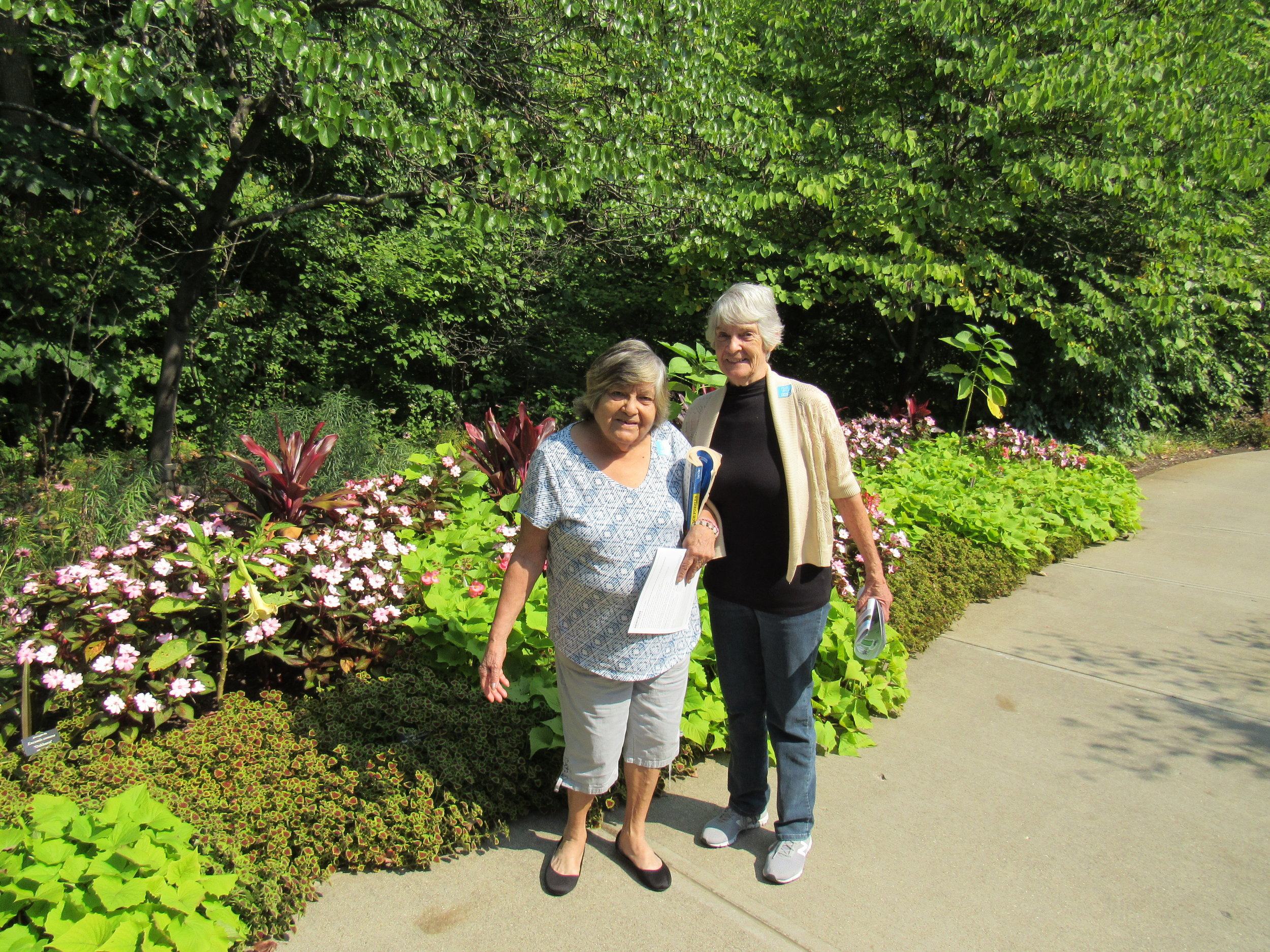 A relaxing walk in the botanical gardens at Newfields.