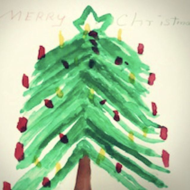 'Tis the season. Painting turned into a Christmas card. Contributed by a guest at our Shelby location. #Artisans