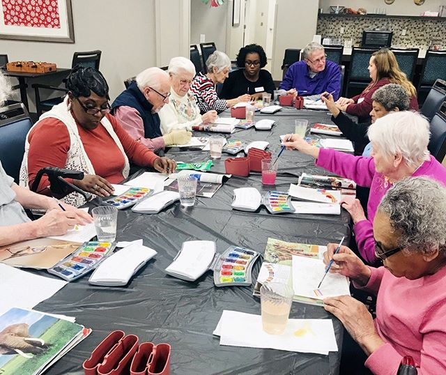 Watercolor creations in our #Artisans class.