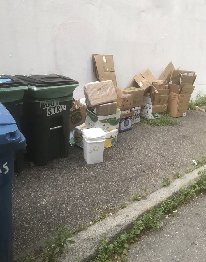 shows the clean up necessary at cutillo park