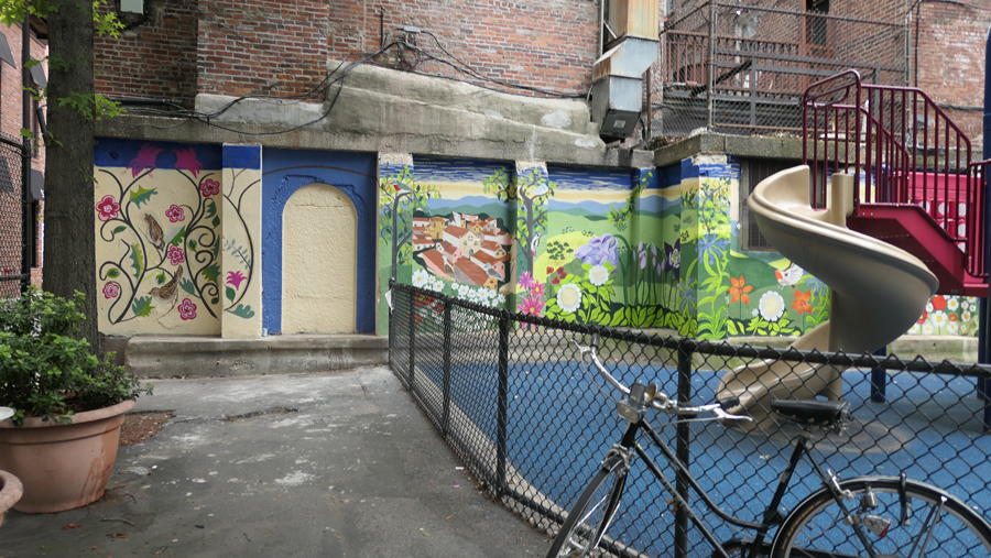 new murals painted in cutillo park