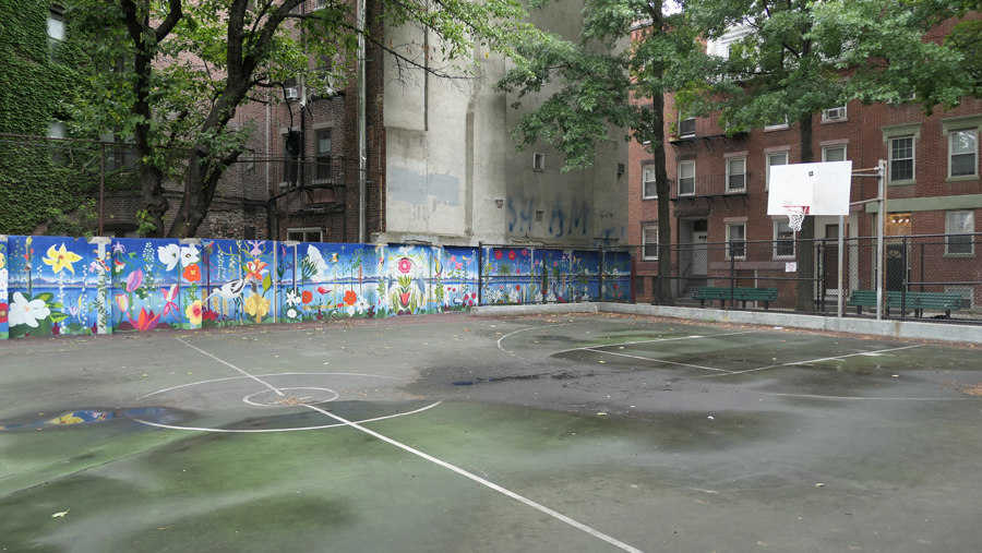 murals painted in cutillo park this year to begin park improvement