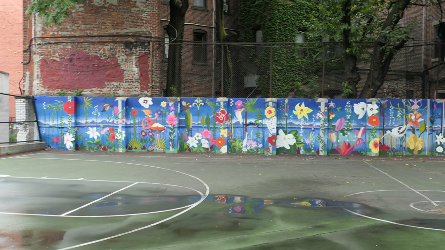 new murals were painted in the park in July of 2018
