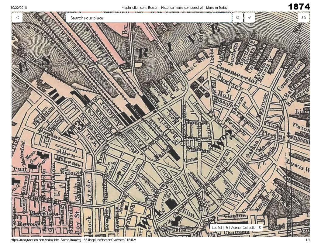 historic map traces the development of cutillo park and morton street area from the early 1800s