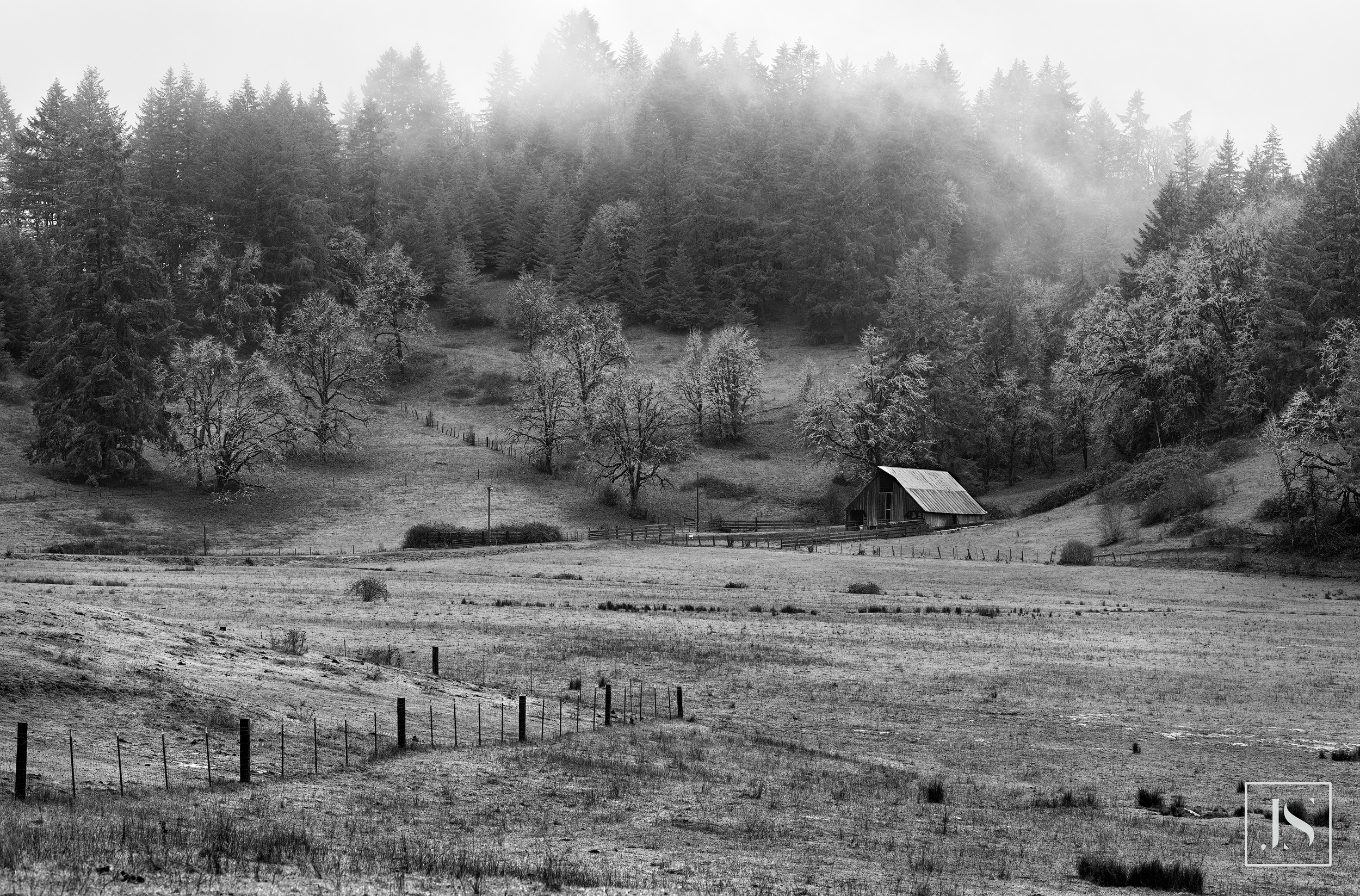 Farm in Winter-Veneta, OR 2016