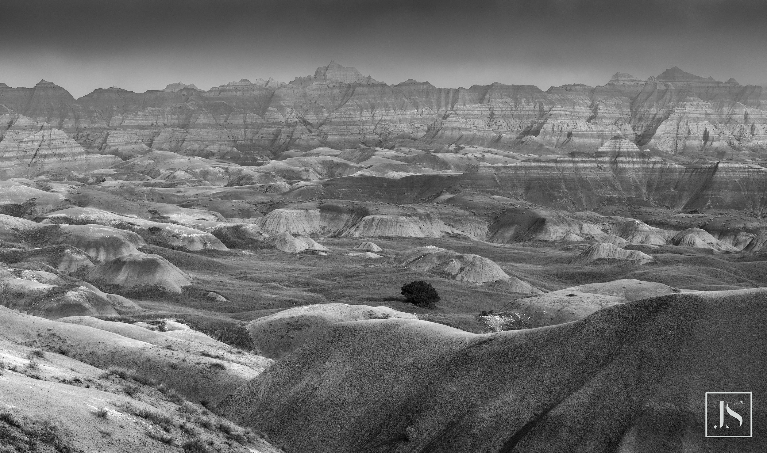 A vast overlook at the Badlands