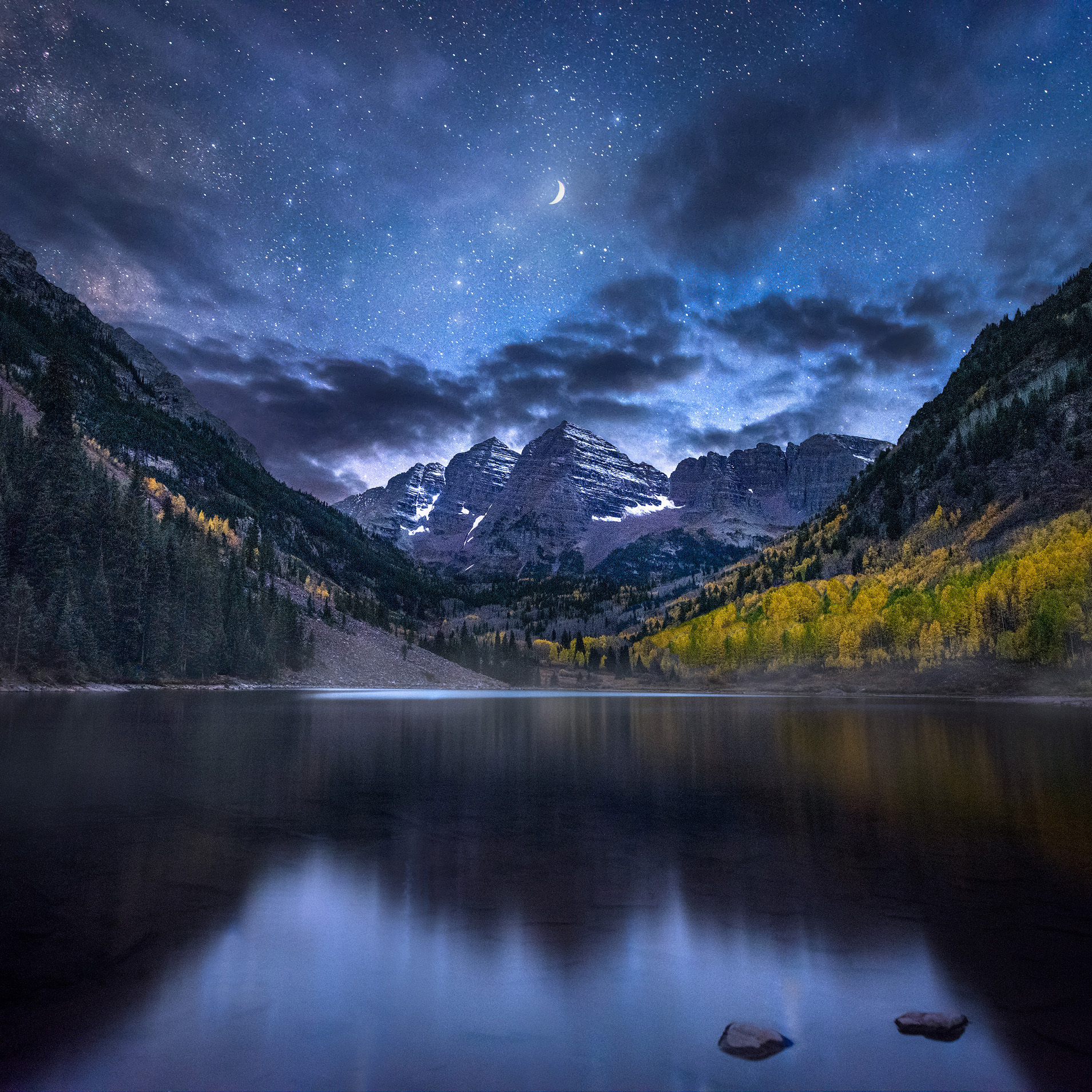 Copy of Moon Over Maroon Bells