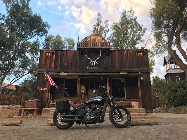 """Visions of Americana. - An Indian Motorcycle and the """"Old Place"""" in Cornell, California. - I get nostalgic for sights like these when away for too long. - @rolandsandsdesign  x @indianmotorcycle custom Scout Bobber... love of my life. - #americana #western #scoutbobber #motorcyclediaries #rolandsandsdesign #oldplace"""