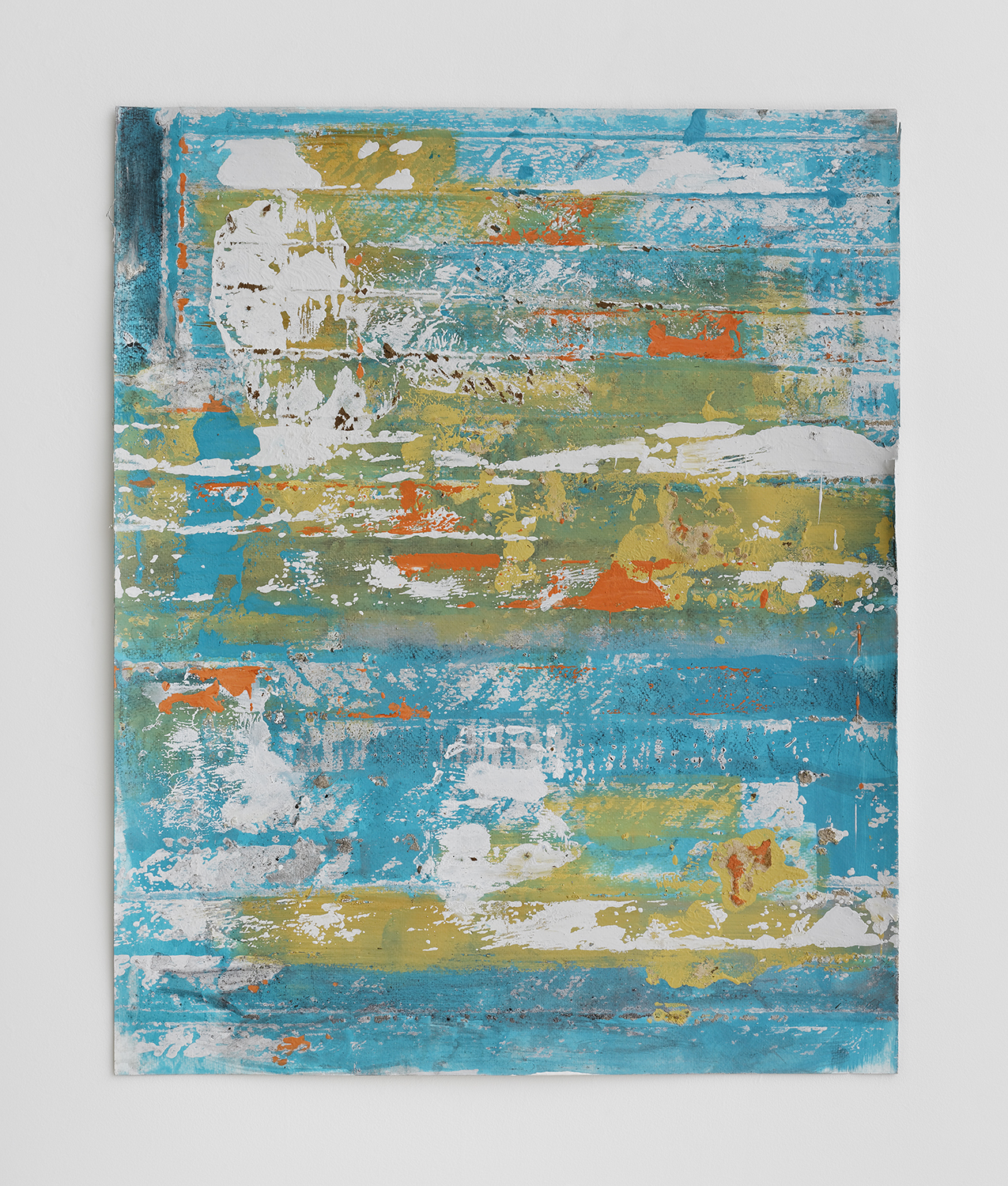 Lisa Sigal      @lisasigal    Lifted Sky  (blight inventory), 2016 Paint, wood and dirt on paper