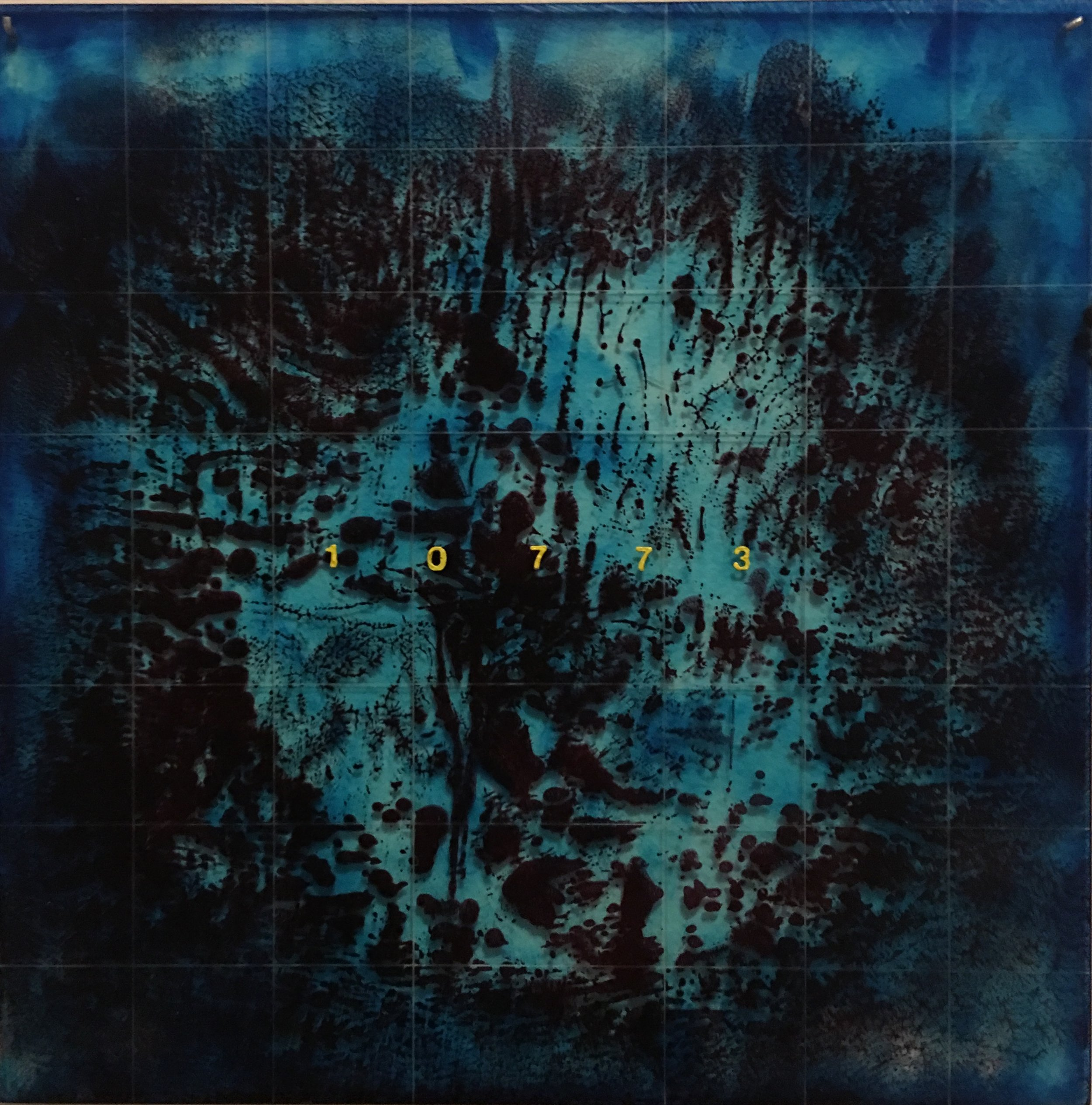 "Shaun Acton    Untitled Oil on plexiglas 12"" x 12"""