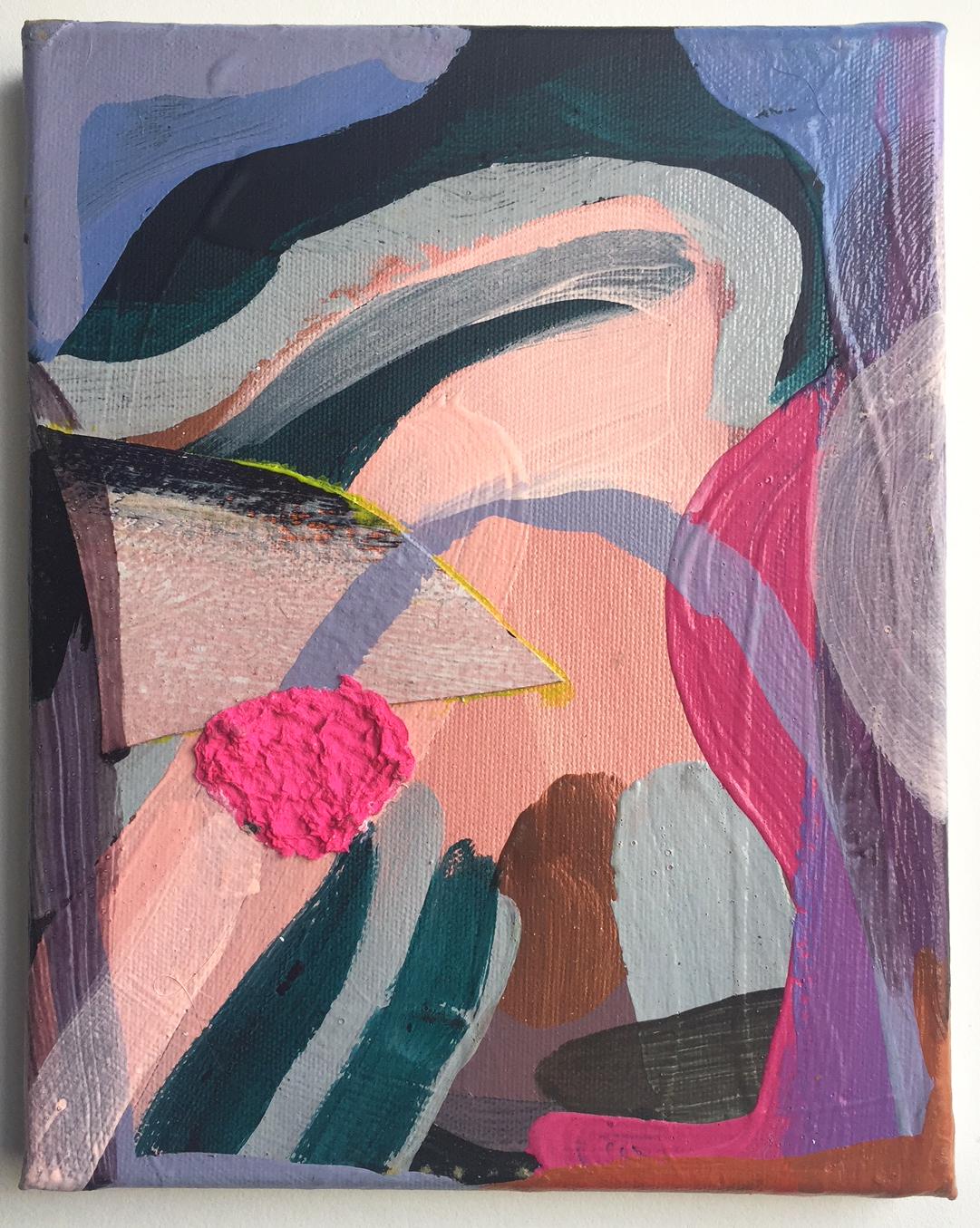 Emily Noelle Lambert      @emilynoellelambert    Handing In , 2015 Acrylic on canvas 10x8 in.
