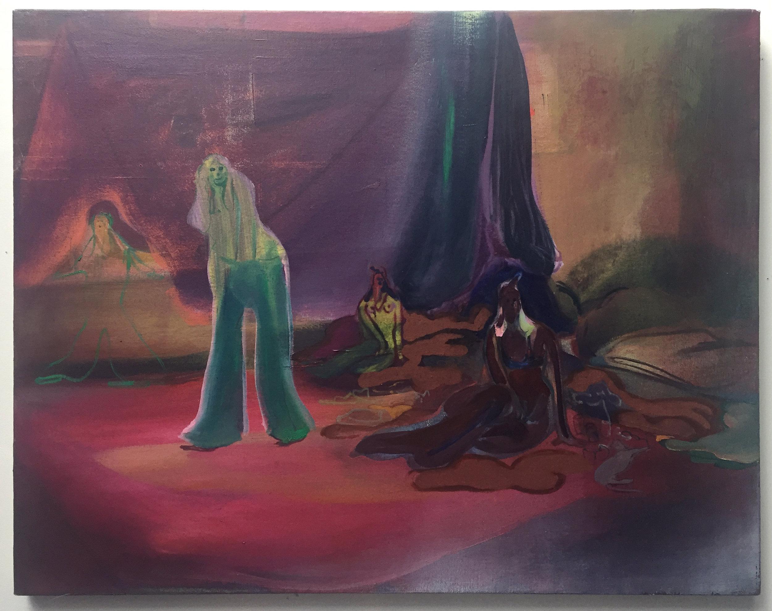 Heidi Hahn      @heidihahn123   Untitled, 2015 Oil on canvas 21 x 27 in
