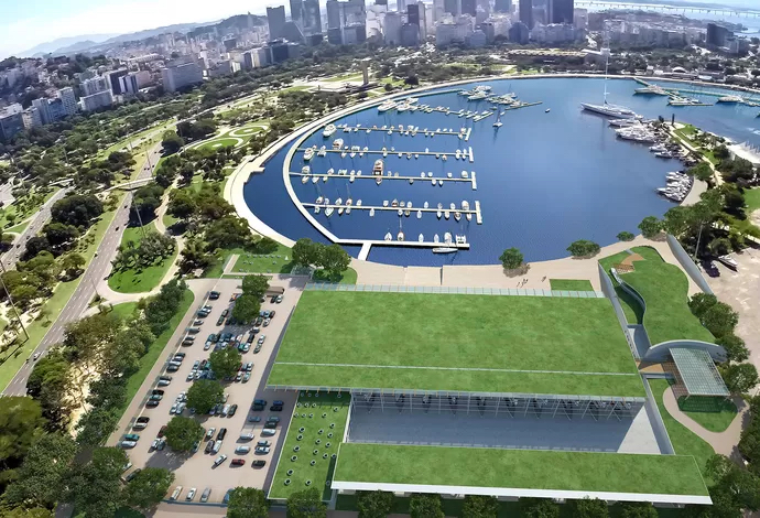 CGI of Marina da Glória - Venue for the sailing events for the Rio 2016 Olympic & Paralympic Games