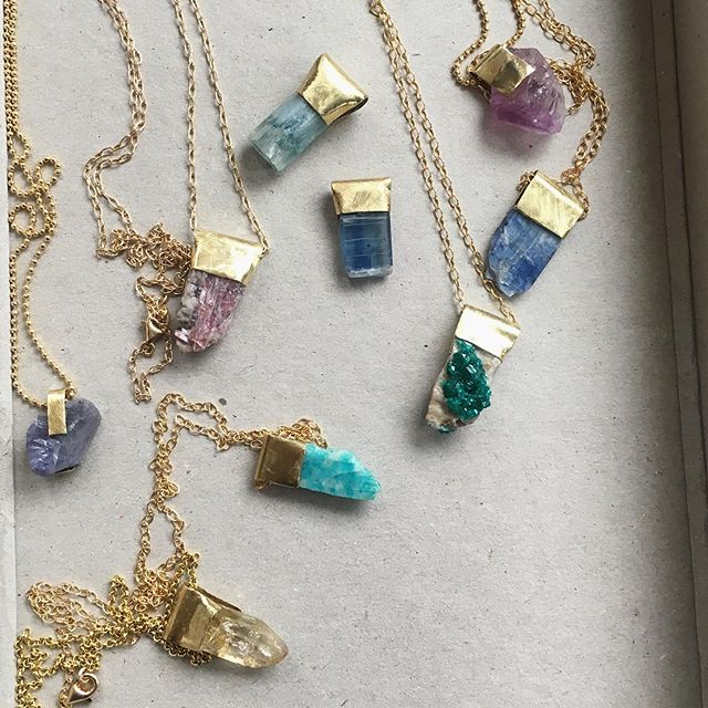 See more of us in stories! A few for @merciparis, a few for me, aka online. Dioptase. Aqua. Kyanite. Scapolite. Pink Tourmaline. Amethyst. . . . . . #spiritual #chakras #crystallove #crystalhealing #handmade #gemstone #handmadejewelry #mindfulness #gemstonejewelry #healingstones #healing #necklace #meditation #gems #crystals #minimalism #reiki #fashion #love #jewelry #chakra #yoga #style #energy #metaphysical #healingcrystals #crystal #amethyst #gemstones