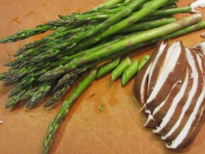 asparagus and shiitake