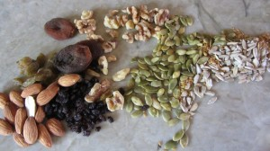 Nuts and fruit
