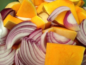 Squash and onion