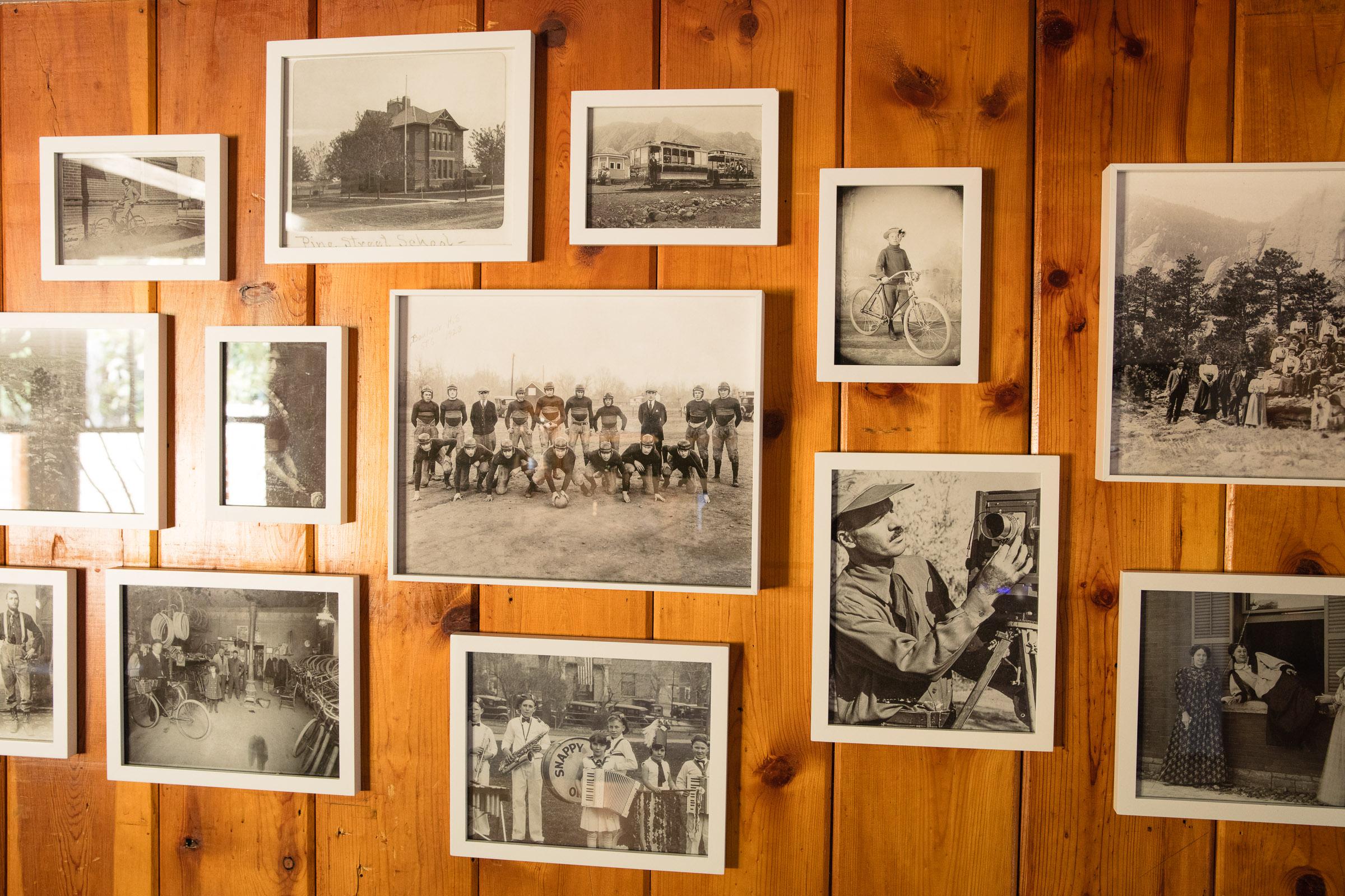 Photographs of old Boulder.