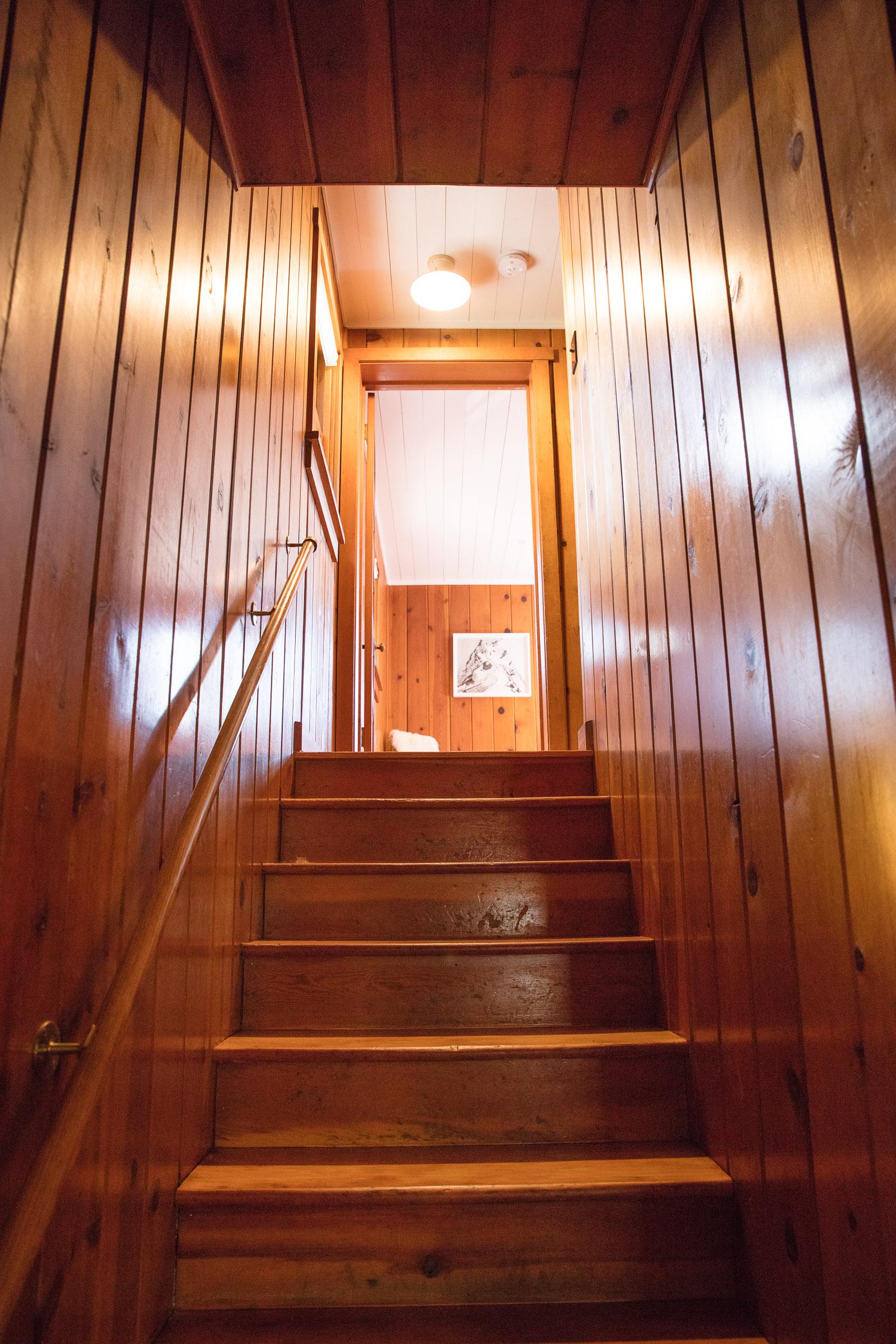 Going upstairs.
