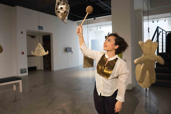 Sweet Gongs Vibrating , San Diego Art Institute, 2016, curated by Amanda Cachia.