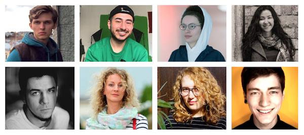 Photos from top left clockwise: Nikita Seleznev, Russia; Agil Abdullayev, Azerbaijan; Anastasia Kizilova, Russia; Zhazgul Madazimova, Kyrgyzstan; Pasha Cas, Kazakhstan; Nadia Valetskaia, Russia; Diana Berg, Ukraine; and Artem Loskutov, Russia