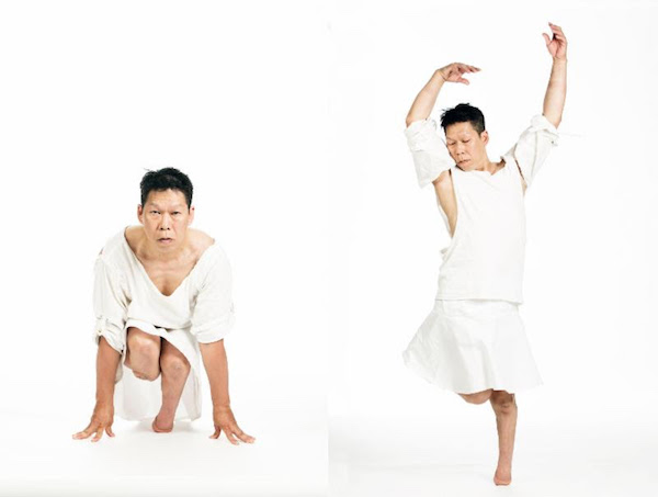 Photos by Inna Malinovaya,  Portraits of Donald Lee, a bilateral amputee dancer, in motion .