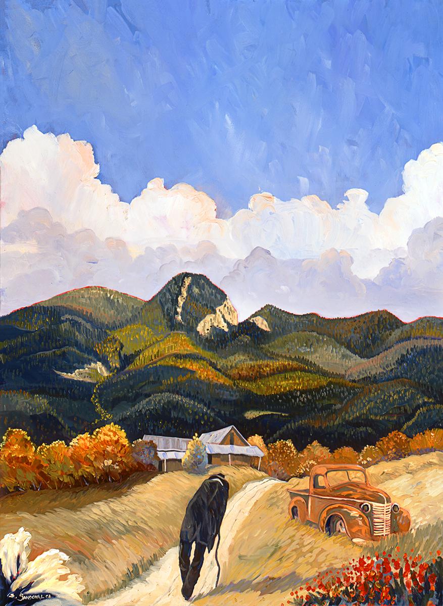 CASA NEAR THE MOUNTAINS (22 X 30)