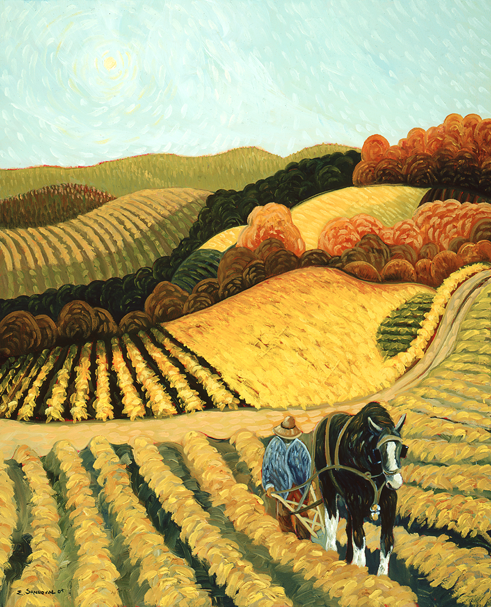 WORKING THE LAND (18 X 24)
