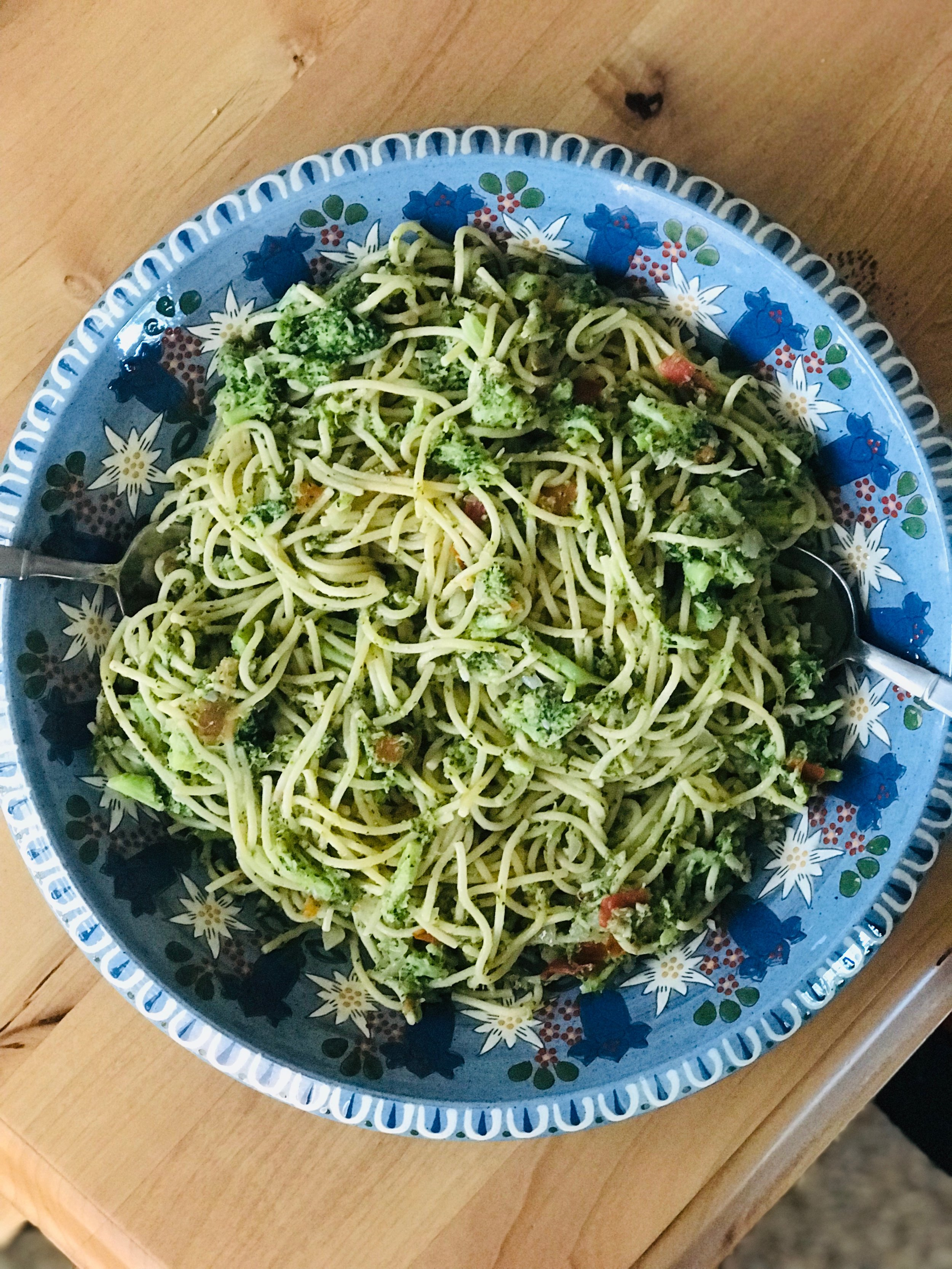 Broccoli Anchovy Spaghetti, Kid Approved - Christina Fit and Balanced