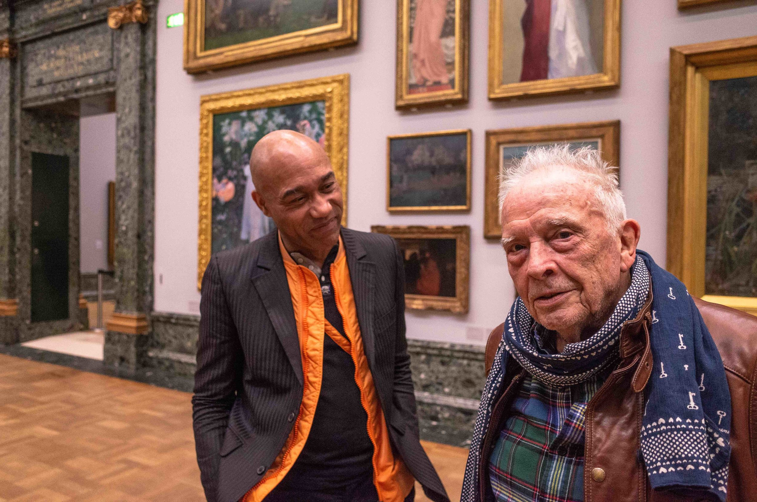 29. R0000475 David Bailey and Gus in the Tate Britain.jpg