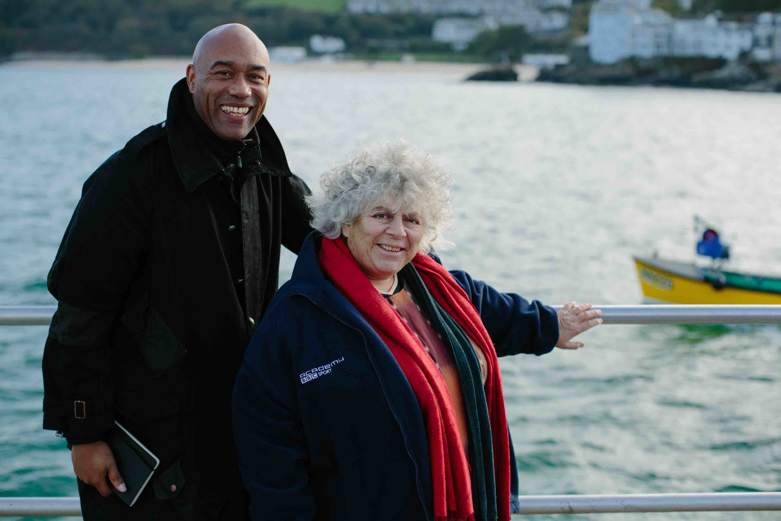 4. B48B7718-2 - Gus & Miriam Margolyes on boat.jpg