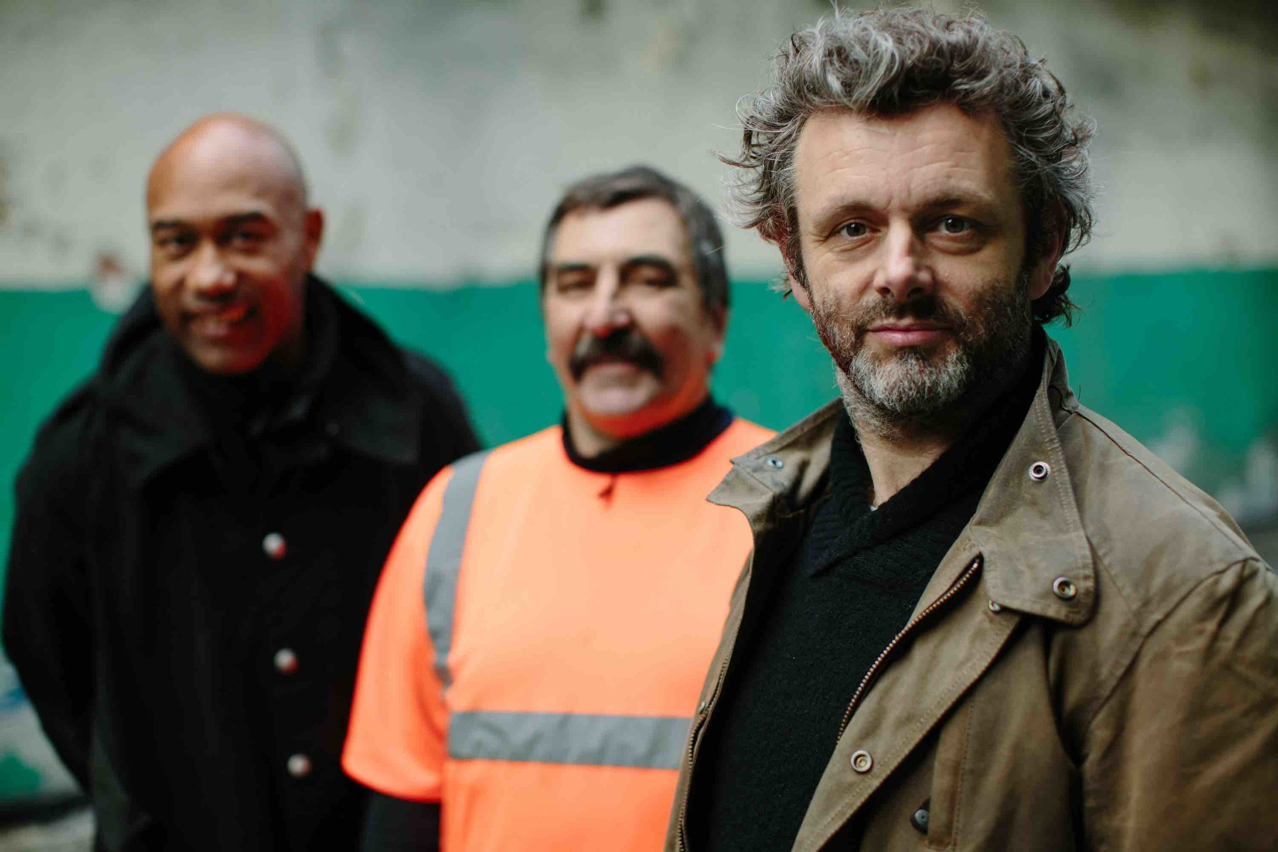 3. B48B7690-2 - Gus, Michael Sheen & Tony Schott from Tower Colliery mine 2.jpg