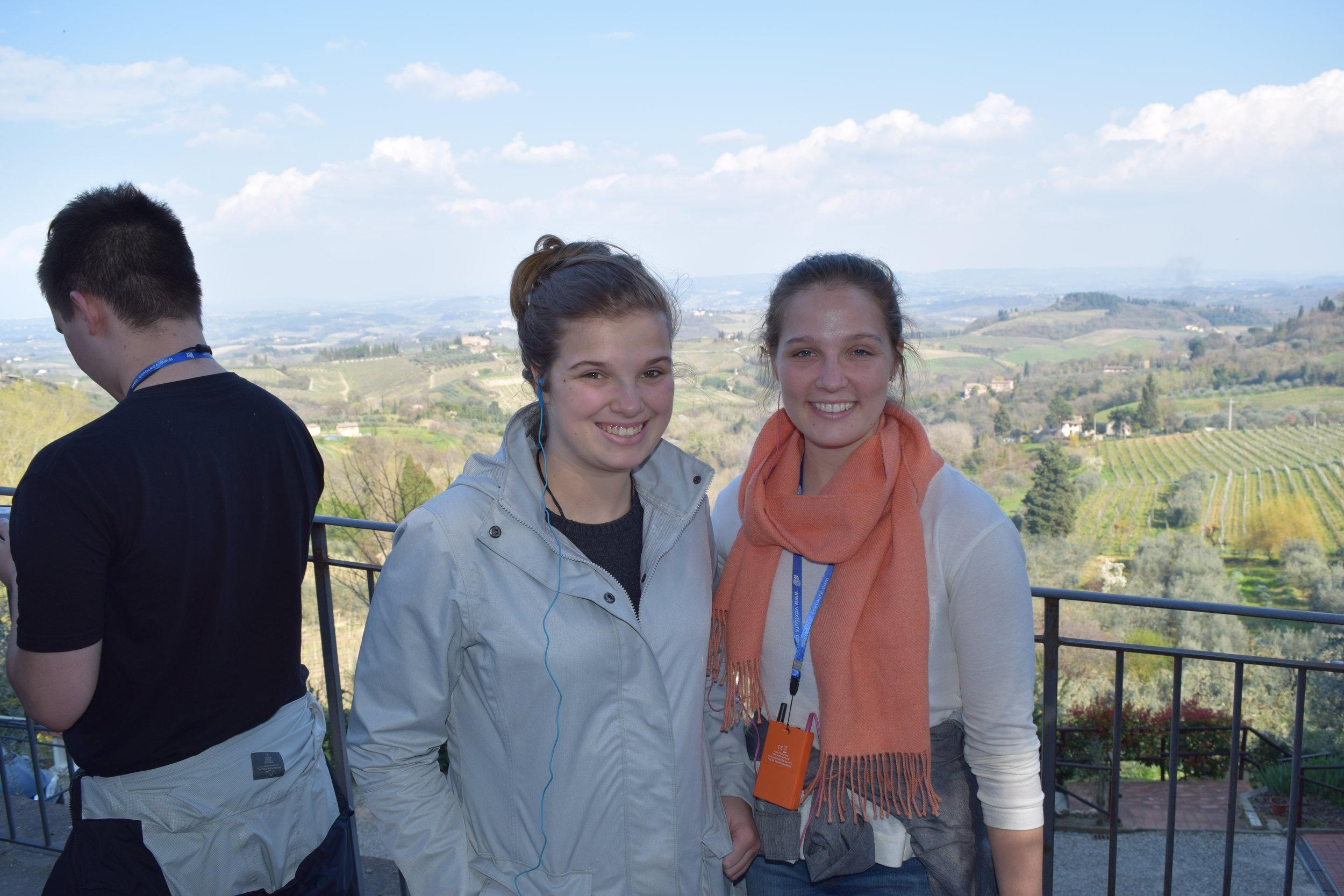 Michaela and Brianna in San Gimgnano!