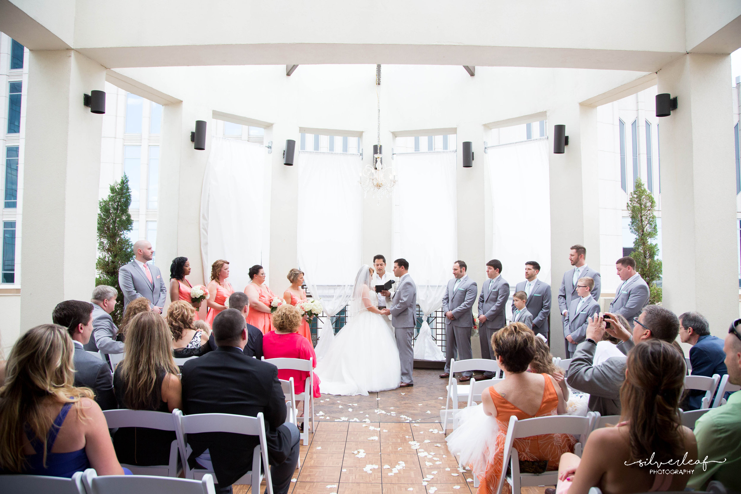 Exchange Your Vows - Outdoors on our breathtaking rooftop rotunda.