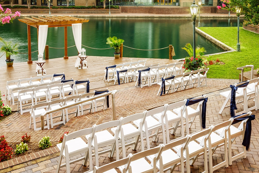 Exchange Your Vows - Outdoors on our beautiful Lakeside Dock.