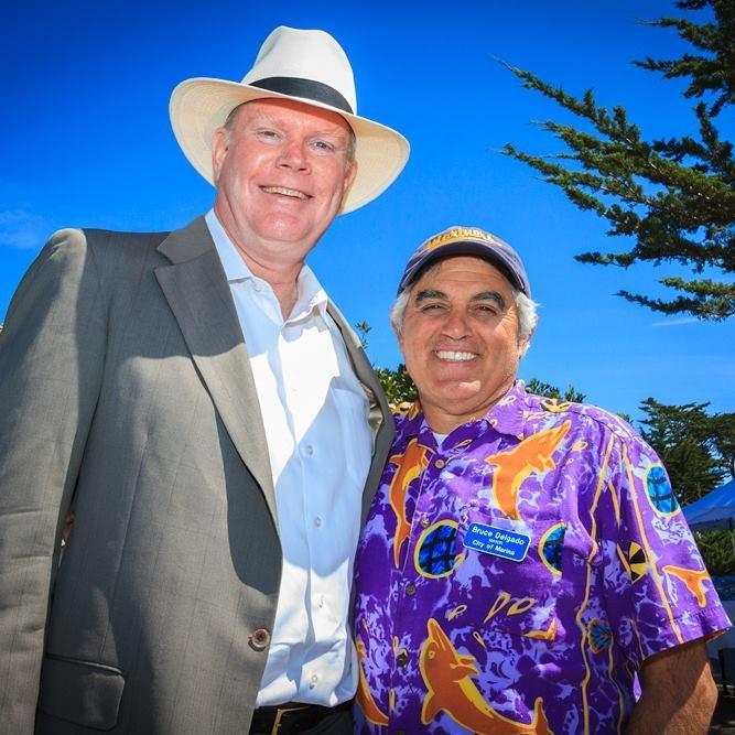 Mayor Delgado and Assemblyperson Mark Stone enjoying a moment at Marina's Earth Day Festival!