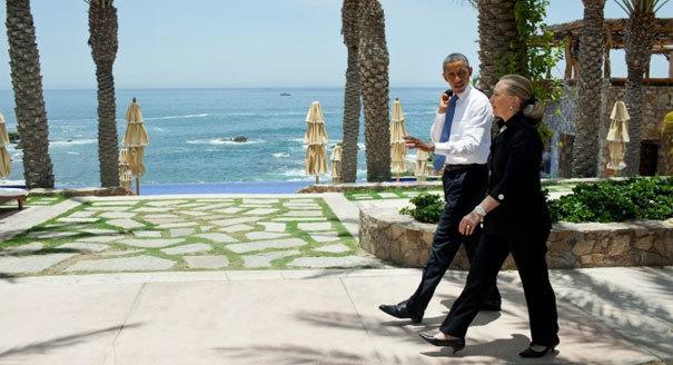 Barack Obama and Hilary Clinton, Esperanza 2012