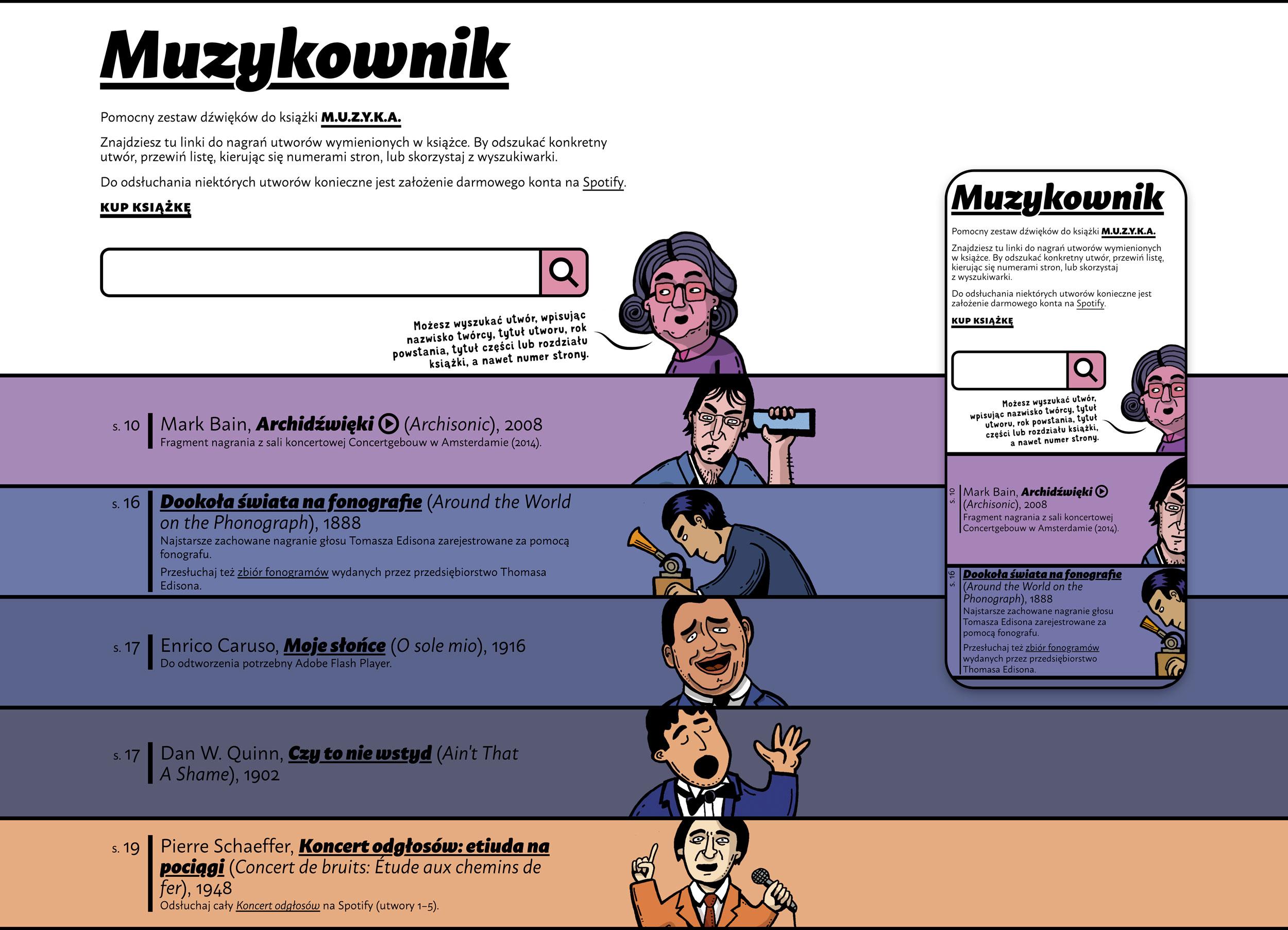 Screenshot of muzykownik.pl website.