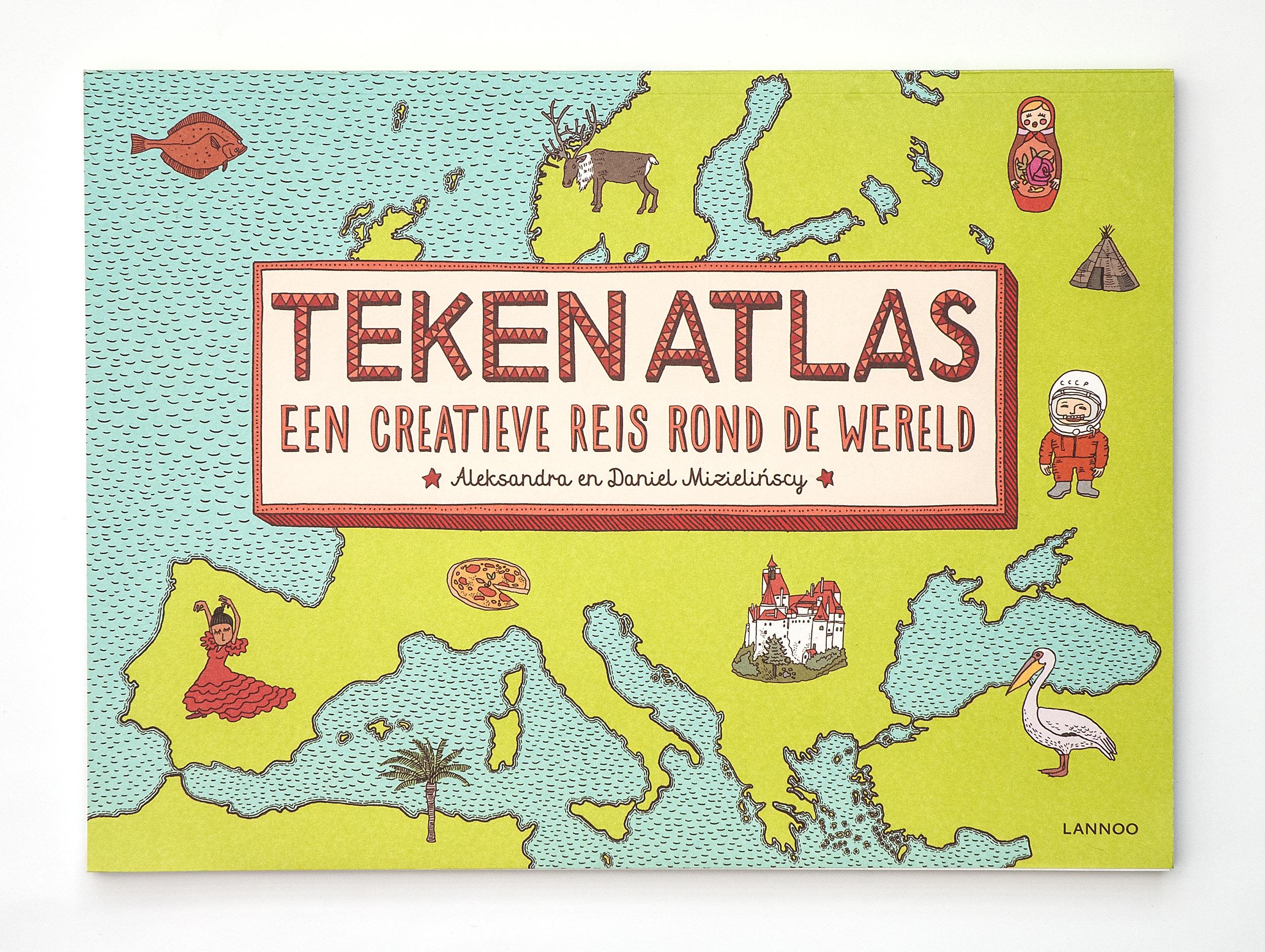 Tekenatlas, een creatieve reis rond de wereld