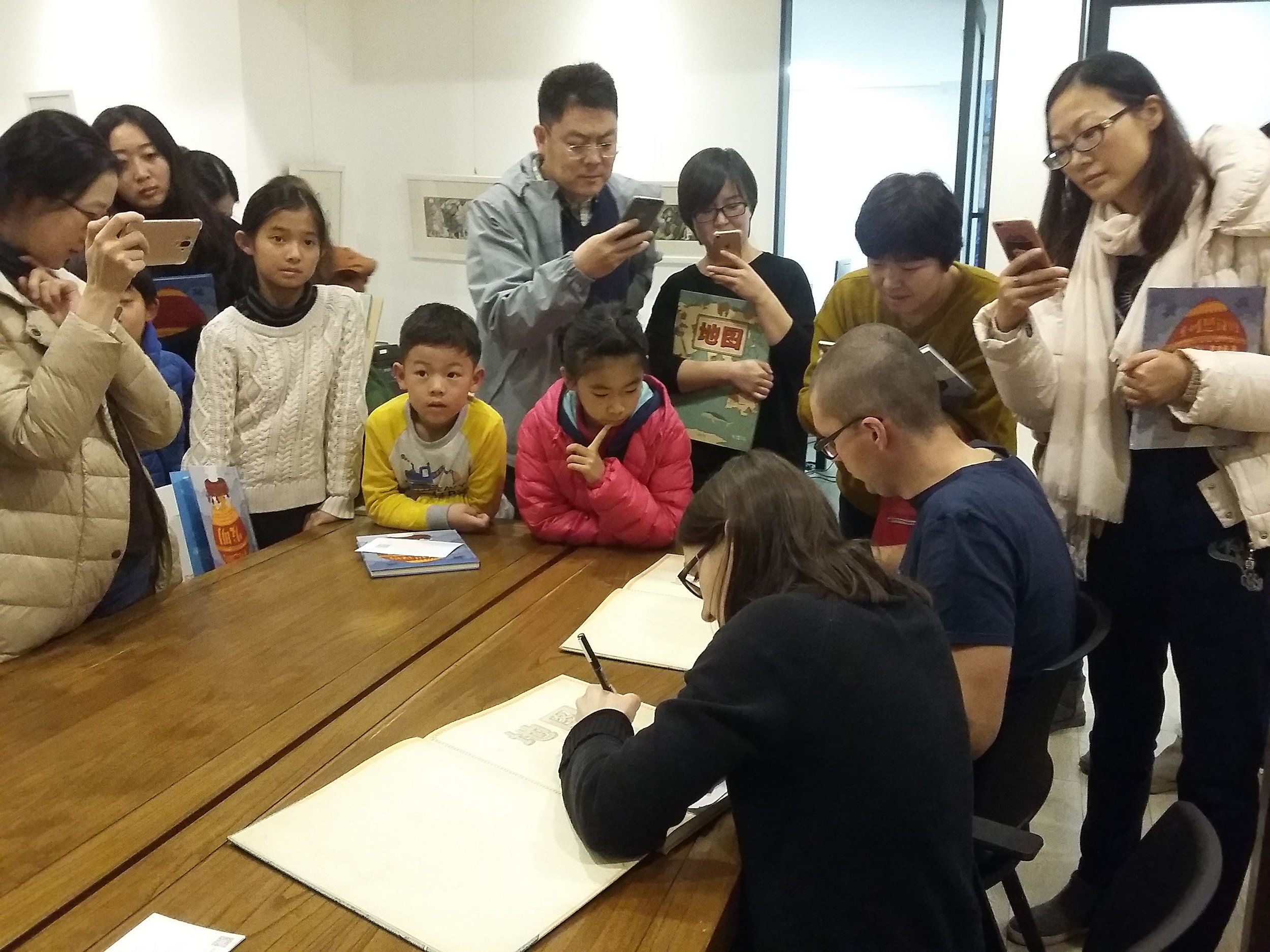Book signing in our Chinese publisher's headquarters.