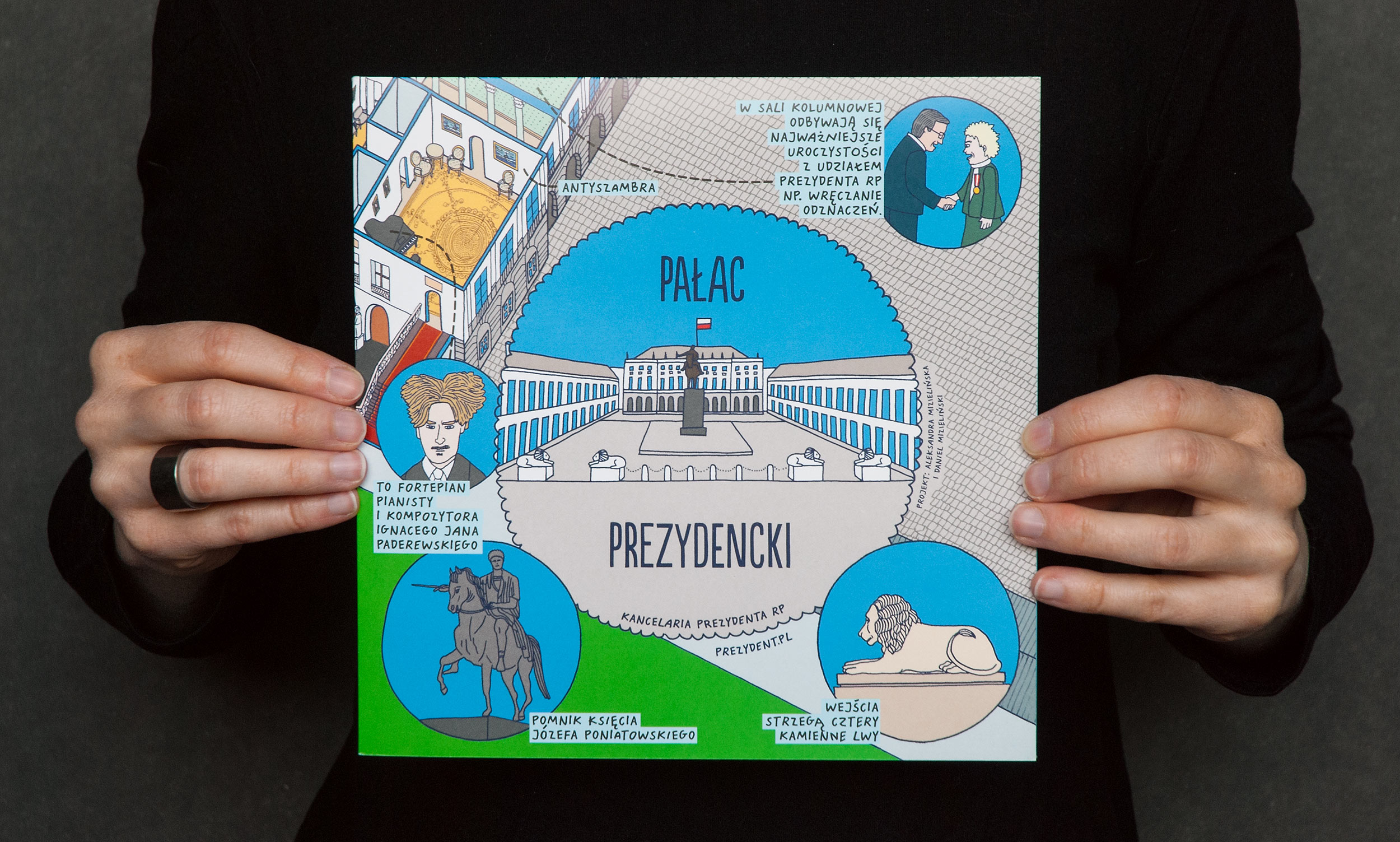 Origami version of the Presidential Palace map.