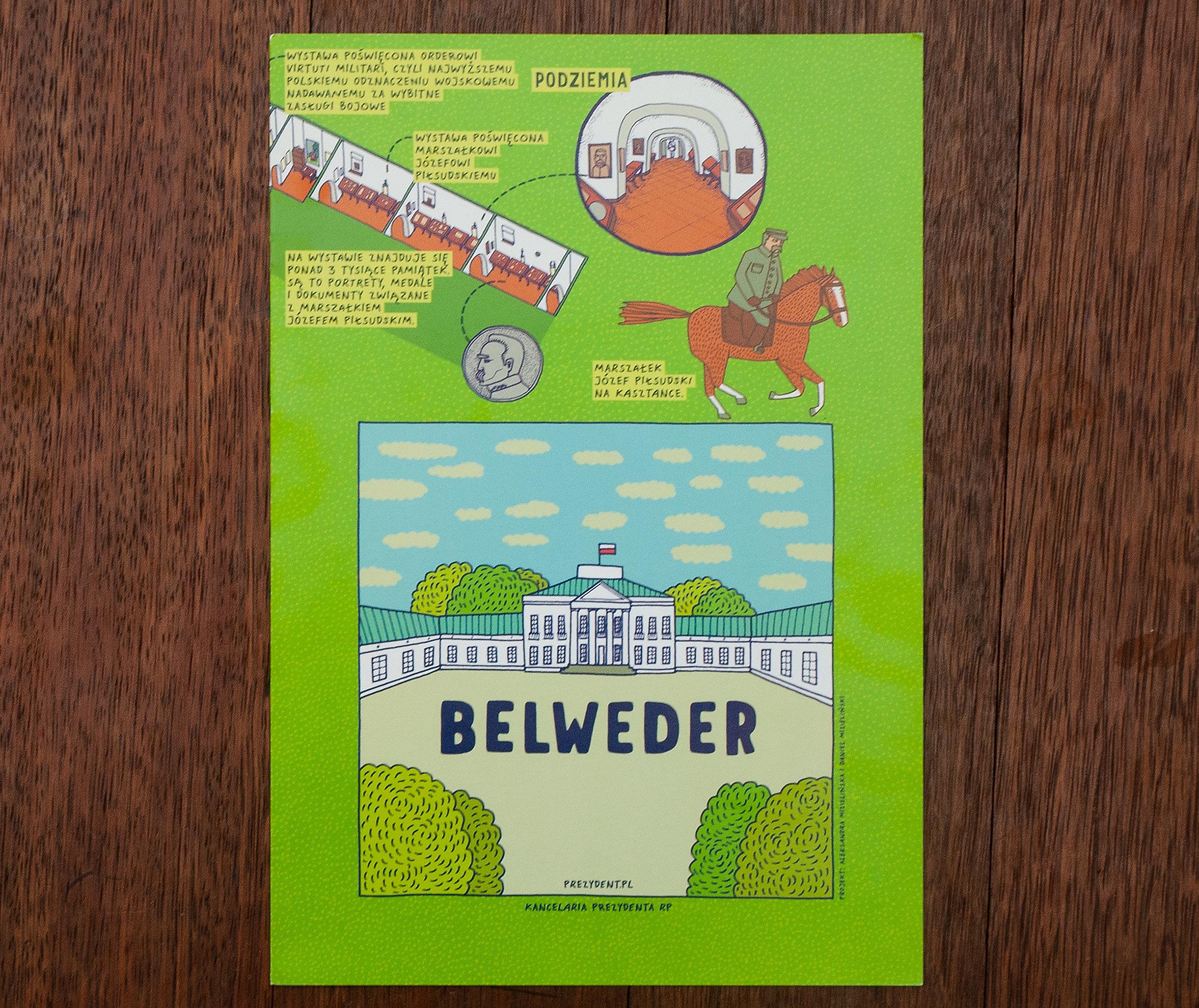 Belweder Palace map.